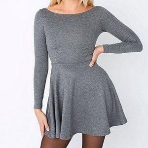 American Apparel Ponte Long Sleeve Skater Dress